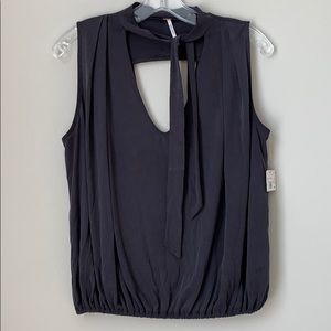 NEW with Flaw Free People Charcoal Gray/Black Top